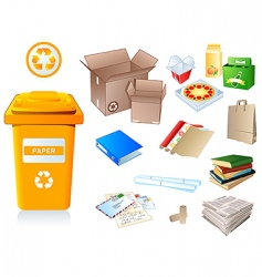 recycle waste vector image vector image