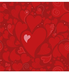 Romantic seamless pattern with hearts vector image