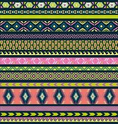 Seamless pattern tribal set vector image vector image