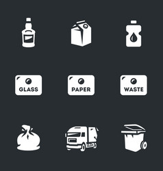 Set of garbage icons vector