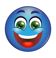 Smiling Blue emoticon vector image
