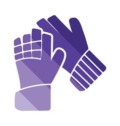 Soccer goalkeeper gloves icon vector image