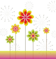 Springtime greeting card abstract flower vector image