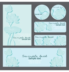 templates with floral pattern vector image vector image