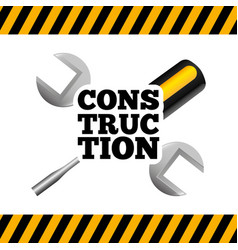 Under construction tools icon vector