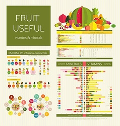 Usefulness of fruit vector image vector image