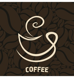 white cup of coffee vector image vector image