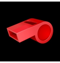 Red whistle vector