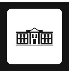 White house usa icon simple style vector