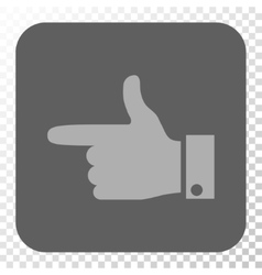 Hand Pointer Left Rounded Square Button vector image