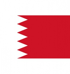 Bahrain flag vector
