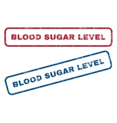 Blood sugar level rubber stamps vector
