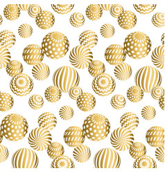 Abstract beads seamless pattern in gold xmas color vector