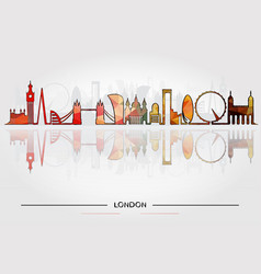 Historic buildings of london vector