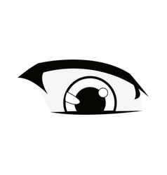 Manga anime cartoon eyes with eyebrows vector