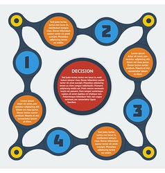 Metaball flat infographic 10 vector