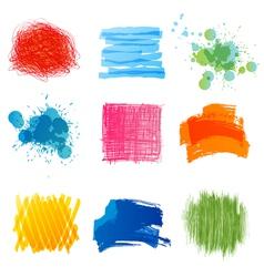 hand drawn strokes vector image