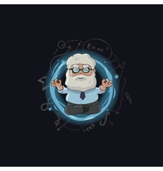 Cartoon of scientist character vector