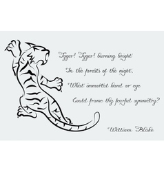 Tiger poems of william blake vector