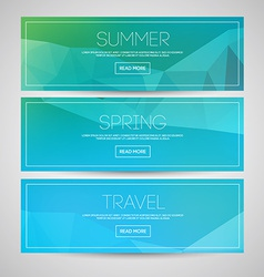 Blurred banners vector