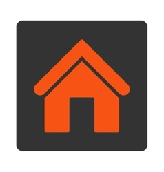Home flat orange and gray colors rounded button vector