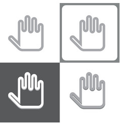 Hand or palm icon vector
