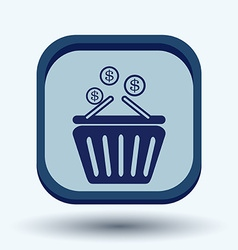 Shopping cart with money vector