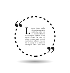 Quote empty text bubble frame ball is round vector
