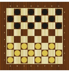 Draughts checker board vector