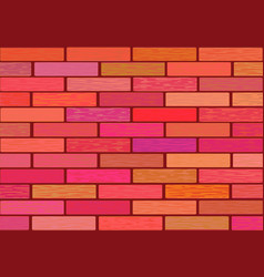 A wall of glazed tile in vivid colorful colors vector