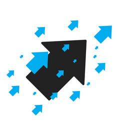 Arrow up icon forward arrow sign business concept vector
