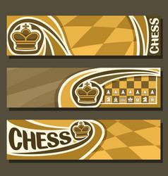 Banners for chess vector