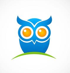 Bird owl hand drawn logo vector