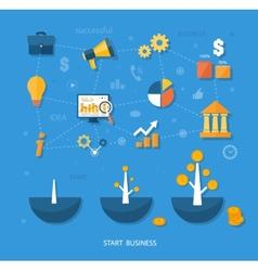 Business start infographics template vector