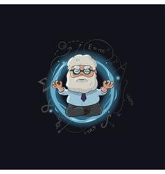 cartoon of scientist character vector image