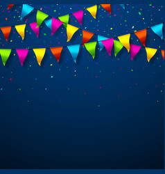 colorful bunting flags with space for text vector image vector image