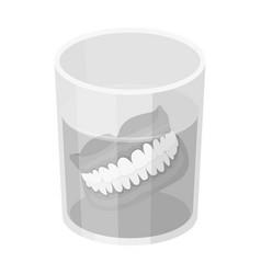 Denturesold age single icon in monochrome style vector