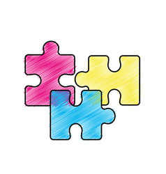 Edge color parts puzzle mental game vector