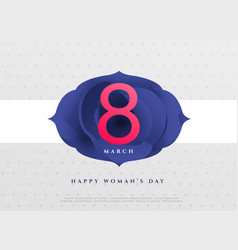 Elegant 8th march happy womens day background vector