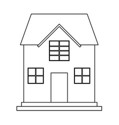 family house icon image vector image