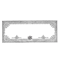 Filigree banner is a three pattern border vintage vector