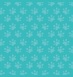Foot print paw mascot pattern vector