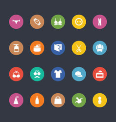 Glyphs colored icons 42 vector