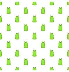 Green men t-shirt pattern cartoon style vector