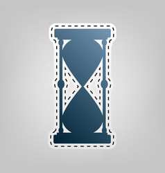 Hourglass sign blue icon vector