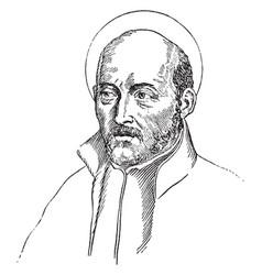 Ignatius of loyola vintage vector