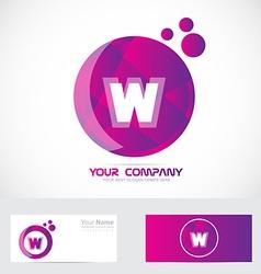 Letter w pink purple logo vector