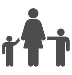 Mother children flat icon vector