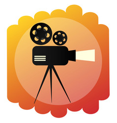 Movie projector icon retro cinema and film sign vector