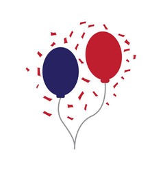 Pair of party balloons vector
